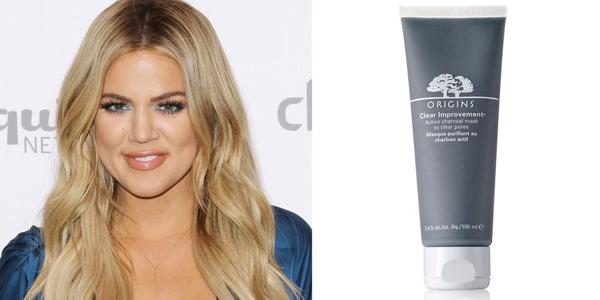 Khloe Kardashian thích dùng mặt nạ đất sét Origins Clear Improvement Active Charcoal Mask.