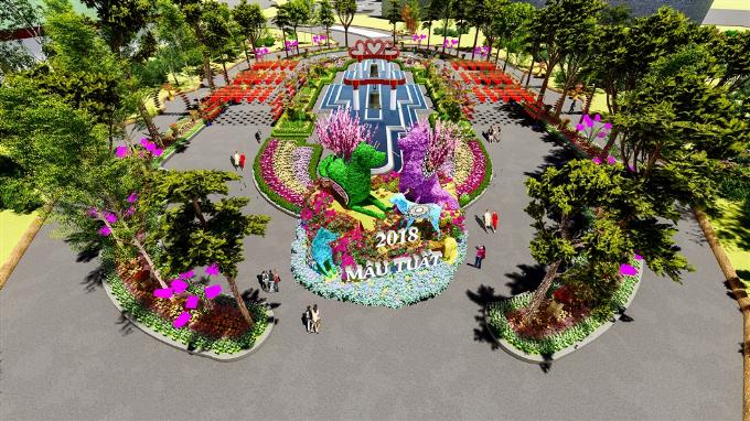Các mô hình kỳ quan bằng hoa tươi sẽ là điểm nhấn độc đáo suốt thời gian diễn ra lễ hội.