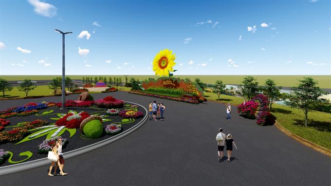 Tham gia lễ hội, du khách sẽ trải nghiệm con đường hoa rực rỡ, chiêm ngưỡng những kỳ quan bằng hoa tươi...