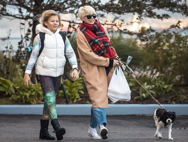 Michael và con gái ở New York, tháng 11/2016.