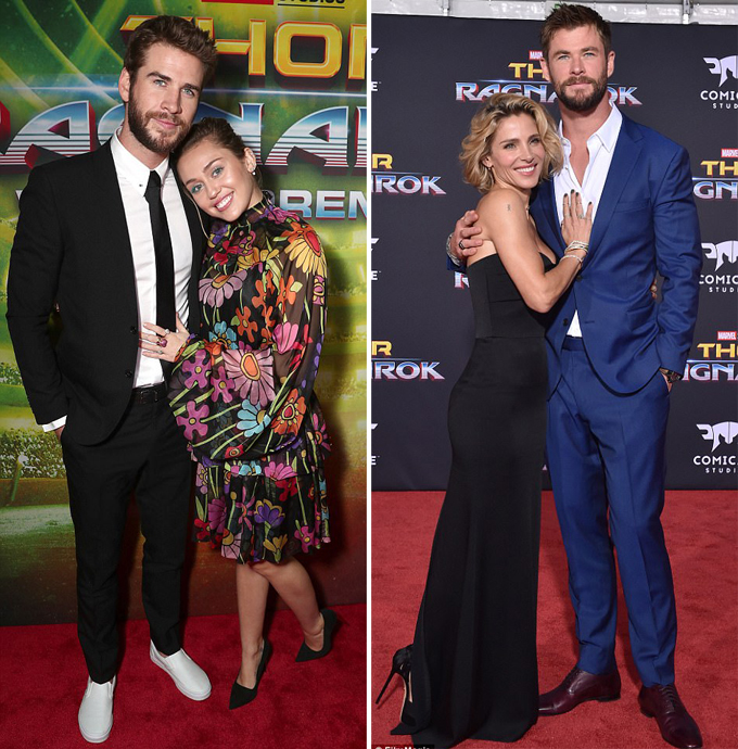 Miley-Liam được vợ chồng Chris Hemsworth mời đến ở chung nhà trong thời gian họ tới Australia.