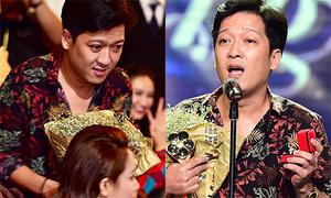 Trường Giang bất ngờ cầu hôn Nhã Phương khi nhận giải Mai Vàng