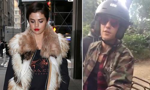 Selena Gomez rầu rĩ trên phố trong khi Justin Bieber đi chơi Amsterdam