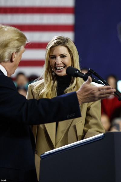 Trong cuốn sách gây tranh cãi Lửa cháy và Thịnh nô: Bên trong Nhà Trắng của Trump, tác giả Michael Wolff khẳng định rằng Ivanka sẽ chạy đua vào vị trí tổng thống Mỹ nếu có cơ hội.