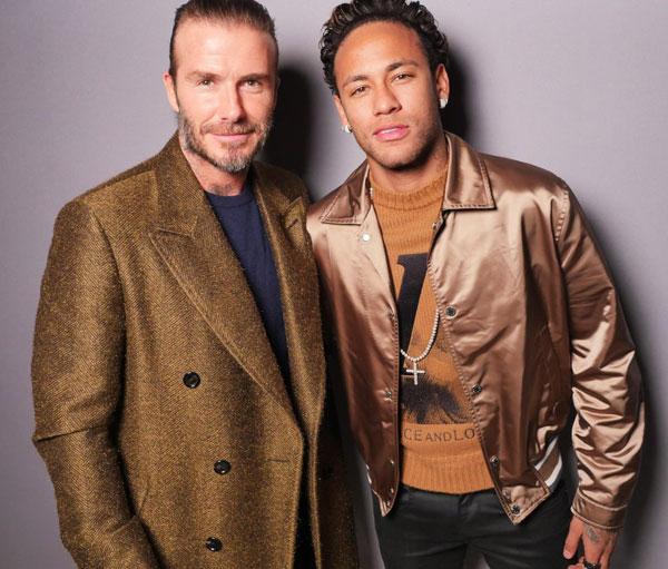 Becks và Neymar cùng tới xem bộ sưu tập thời trang dành cho nam của nhà thiết kế Kim Jones thuộc khuôn khổ Tuần lễ thời trang Paris