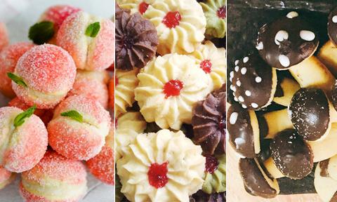Ba loại bánh cookie đẹp mắt dễ làm cho ngày Tết