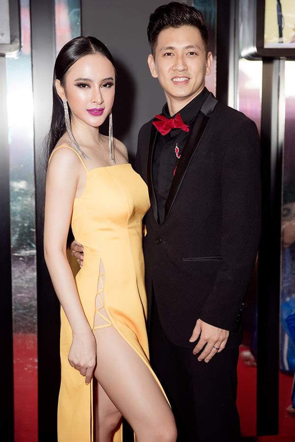 Angela Phương Trinh với phong cách thời trang sexy bên diễn viên Đỗ An - chồng người mẫu Lê Thuý.