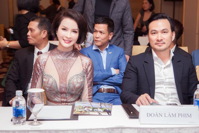 Thanh Mai và Chi Bảo tại họp báo Tình khúc Bạch Dương.