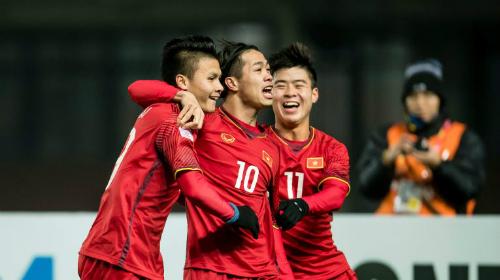 U23 Việt Nam là đội gây bất ngờ nhất ở vòng chung kết U23 châu Á 2018. Ảnh: VnExpress.