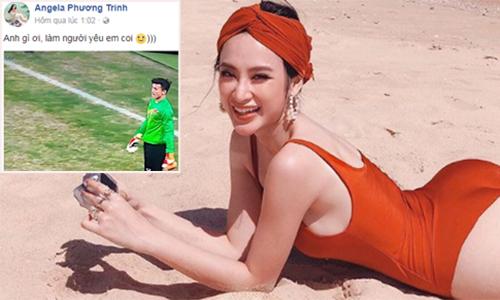 Angela Phương Trinh 'thả thính' thủ môn Bùi Tiến Dũng
