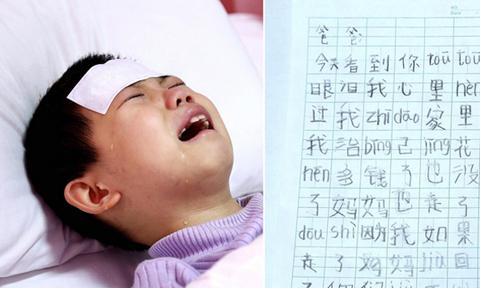 Lá thư mong được chết của bé gái ung thư máu gửi bố