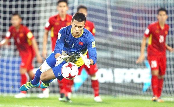 Thủ môn Tiến Dũng thể hiện phong độ xuất sắc ở giải châu Á. Ảnh: AFC.