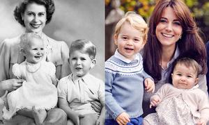 Sự khác biệt trong cách nuôi dạy con của Nữ hoàng Anh và cháu dâu Kate