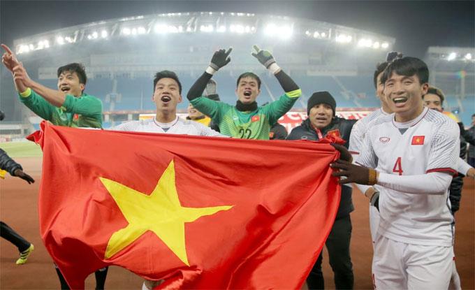 U23 Việt Nam lập kỳ tích ở giải châu Á. Ảnh: AFC.