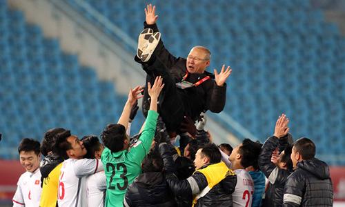 Những sắc thái biểu cảm của HLV Park Hang Seo trong trận gặp U23 Qatar