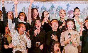 Nghệ sĩ hát 'Quốc ca' mừng U23 Việt Nam trong sinh nhật Sao Mai Phương Thảo