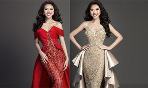 Tường Linh hé lộ trang phục dạ hội trước đêm chung kết Hoa hậu Liên lục địa