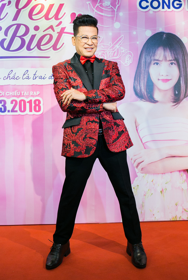 MC Thanh Bạch dự buổi họp báo công bố vai diễn mới trên màn ảnh rộng.