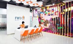 Phong cách thiết kế mở, trẻ trung của văn phòng FWD tại Đà Nẵng