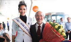 Ông ngoại ra sân bay đón Hoàng Thùy về quê sau khi lên ngôi Á hậu