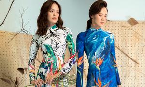 5 mẫu áo dài cho nàng mê họa tiết rực rỡ
