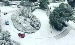 Khung cảnh tuyết phủ trắng thành phố diễn ra trận chung kết U23 châu Á