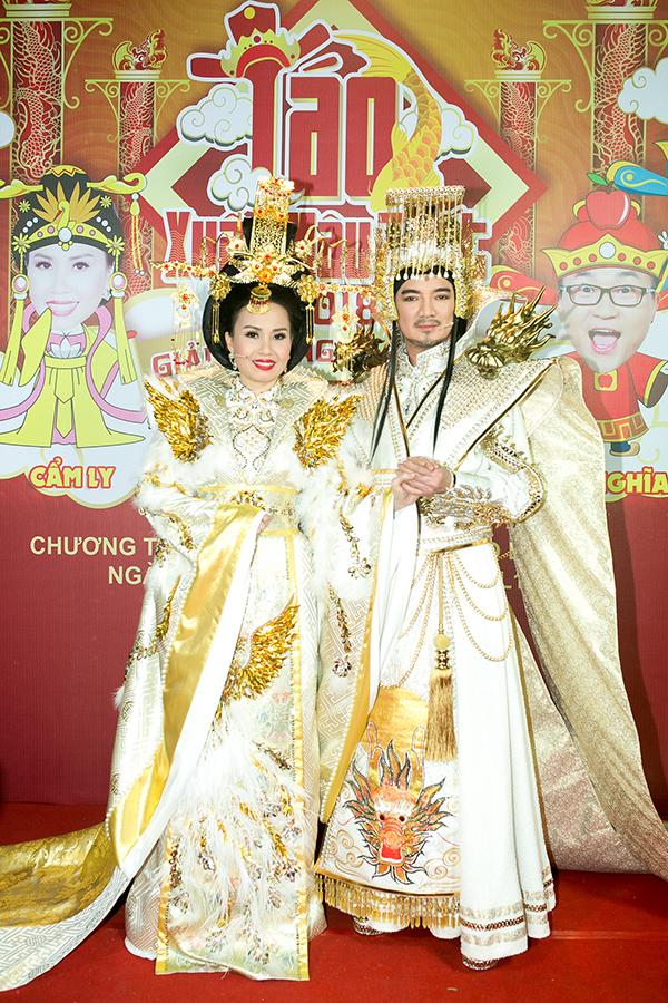 Tạo hình của Cẩm Ly và Đàm Vĩnh Hưng trong vai Thiên Hậu và Ngọc Hoàng.