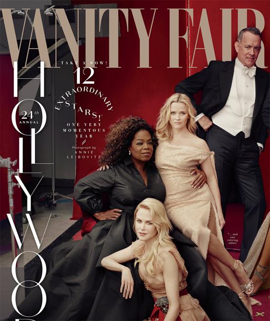Reese Witherspoon cùng nhiều gương mặt nổi tiếng của Hollywood xuất hiện trên trang bìa Vanity Fair.