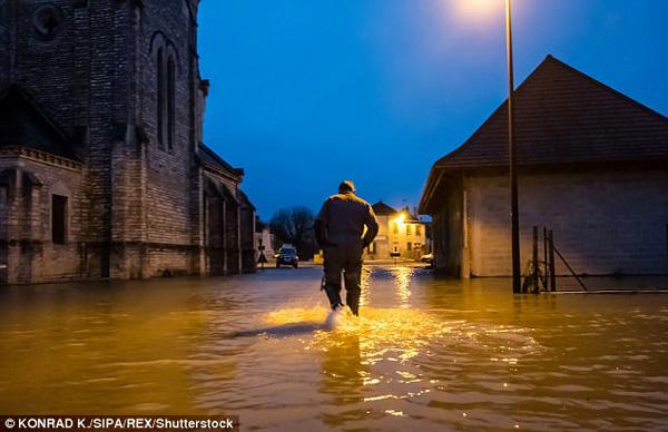 Các chuyên gia khí tượng dự đoán đến ngày 27/1, nước sẽ dâng lên 6,1m,  tương đương nước đo trong trận lũ lụt năm 2016, khi chính quyền Pháp buộc phải đóng cửa một số đài tưởng niệm, trong đó có cả bảo tàng Louvre.
