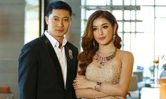 Á hậu Huyền My chụp hình quảng cáo tại Myanmar