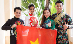 Hoa hậu H'Hen Niê hội ngộ siêu mẫu Hồ Đức Vĩnh