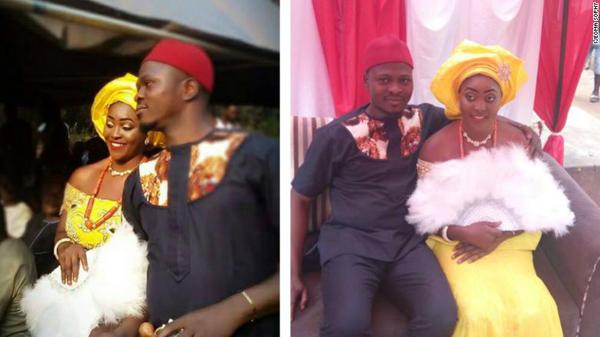 Tình yêu của họ đến chóng vánh và chỉ sau một tuần kể từ khi tuyển vợ trên mạng xã hội, Amedu đã trở thành chú rể. Ảnh: CNN