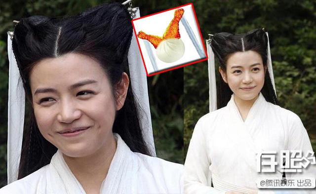 Tiểu Long Nữ với kiểu tóc làm nên danh hiệu Cô côđùi gà trong Thần điêu đại hiệp.