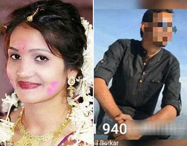 Nisha (trái) đã tử vong trước đám cưới 10 ngày vì bị bạn trai cũ (phải) đe dọa.