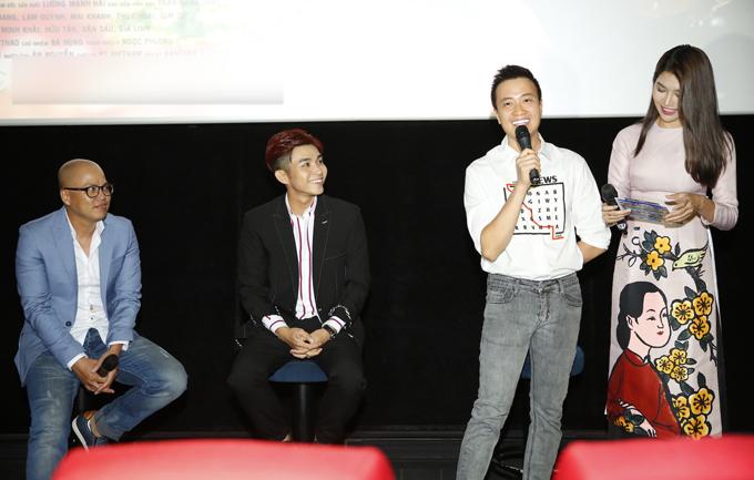 Lương Mạnh Hải dự sự kiện với vai trò nhà sản xuất. Anh tiết lộ bộ phim quay trong thời gian cực ngắn, chỉ mất 5 ngày.