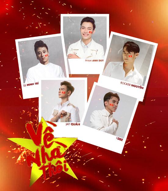 Rocker Nguyễn cùng nhiều nghệ sĩ trẻ thể hiện ca khúc mới sáng tác tặng cho U23 Việt Nam.