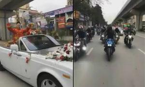 Đoàn xe ăn hỏi 'nẹt pô' gây náo loạn đường phố Hà Nội
