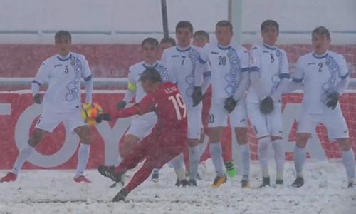 Điều chưa biết đằng sau siêu phẩm sút phạt của Quang Hải tung lưới U23 Uzbekistan