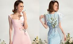 Lan Ngọc hoá 'nàng xuân' kiêu kỳ với váy đính hoa nổi