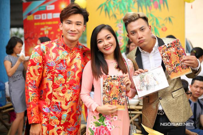 Từ trái qua: ca sĩ Chí Thiện, Thanh Ngọc, Bá Thắng.