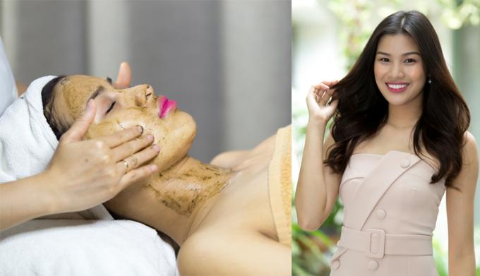 Á hậu Nguyễn Thị Thành tỏa sáng với gương mặt trắng hồng, mịn màng sau khi trải nghiệm Tảo Silic