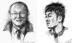 Chàng trai Quảng Bình vẽ chân dung HLV Park Hang-seo và U23 Việt Nam