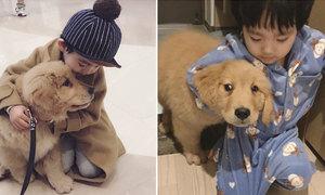 Tình bạn khăng khít của cậu bé 3 tuổi và chó cưng