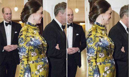 Kate lộ bụng bầu to và tăng cân thấy rõ
