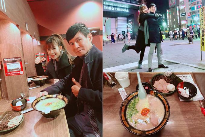 Lý Hải - Minh Hà trốn các con sang Nhật Bản làm mớitình yêu. Đôi vợ chồng check in tạiShinjuku, Tokyo, tranh thủ mua sắm và thưởng thức món mì ramen yêu thích.
