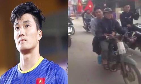 Thủ môn U23 Việt Nam rời ôtô sang để ngồi xe máy cũ với bố về nhà