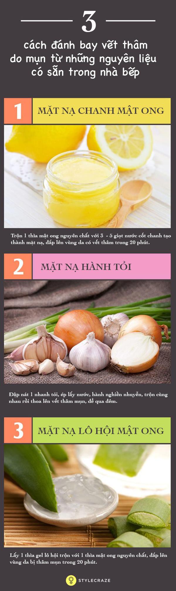 3 cách đánh bay vết thâm mụn từ những nguyên liệu có sẵn trong bếp