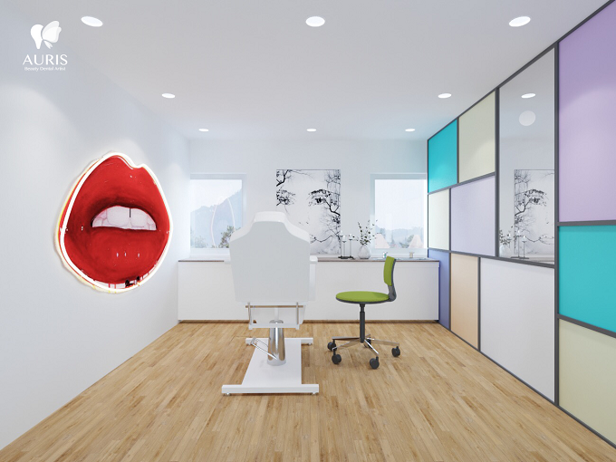 Cơ sở vật chất, trang thiết bị hiện đại tại Nha khoa thẩm mỹ Auris tạo hứng thú cho khách hàng khi làm răng.