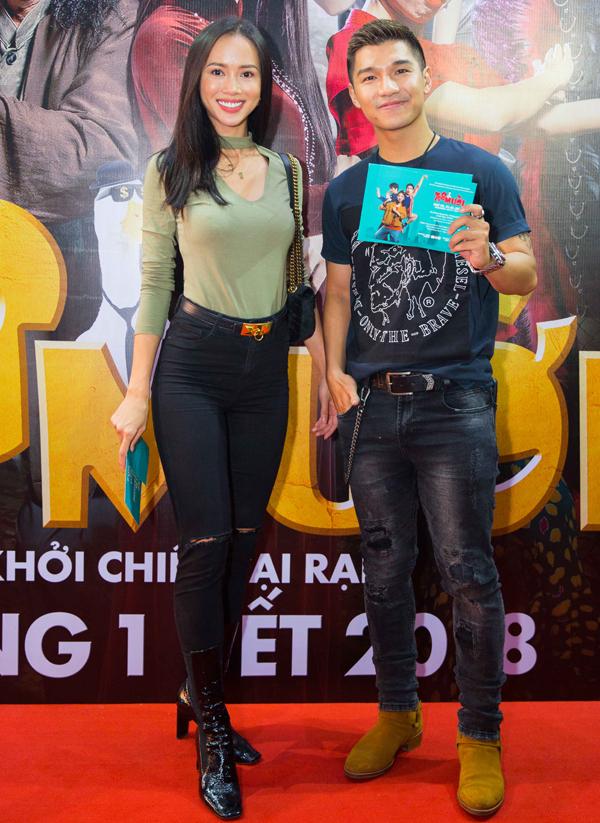 Cường Seven hội ngộ người đẹp Vũ Ngọc Anh sau thời gian diễn xuất chung trong phim Lôi báo.