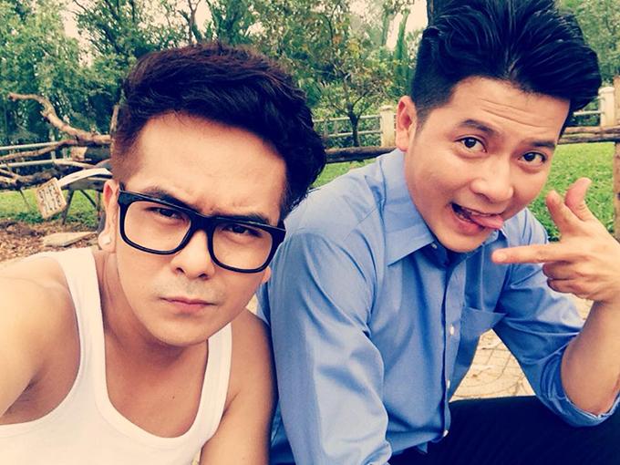 Diễn viên Hùng Thuận đăng ảnh nhí nhố để chúc mừng sinh nhật người bạn thân Hoàng Anh.